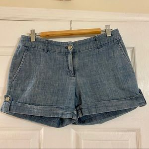 Soft Cotton Blue Jean Shorts - Size 4